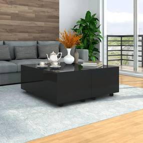 vidaXL Konferenčný stolík čierny 100x100x35 cm vysoký lesk
