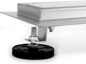 EURO Sprchový podlahový žľab 50 cm - VLNA M5001