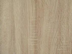 Šatníková skriňa Jupiter, 207 cm, dub sonoma/biela