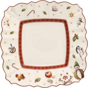 Biely hranatý tanier na maslo/chlieb 17 cm Toy's D