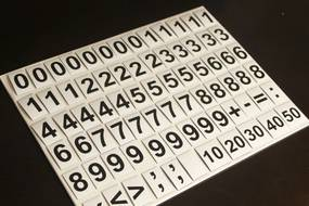MagWord Magnetické číslice čierna