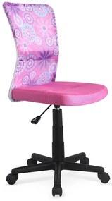 HALMAR Dingo detská stolička na kolieskach ružová