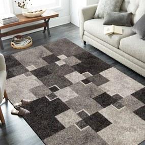 DomTextilu Moderný béžový koberec s motívom štvorcov 38603-181612