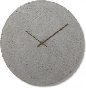 CLOCKIES CEMENT 50 nástenné hodiny Sivá Orechové drevo