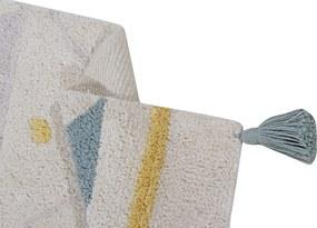 Lorena Canals koberce Ručně tkaný kusový koberec Azteca Natural-Vintage Blue - 140x200 cm