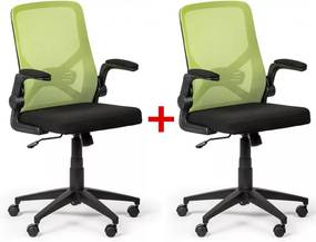 Kancelárska stolička Flexi 1 + 1 ZADARMO, zelená