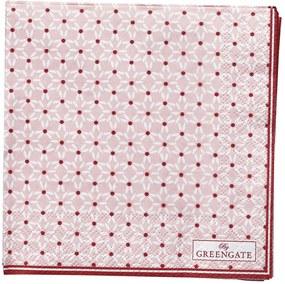 GREEN GATE Papierové obrúsky Juno Pale Pink - malé