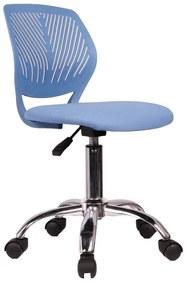 TEMPO KONDELA Selva detská stolička na kolieskach modrá / chróm