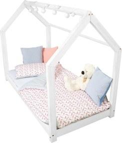 Biela posteľ s vyvýšenými nohami Benlemi Tery, 80x200cm, výška nôh 20cm