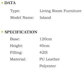 Sedací Vak INTERMEDIC Island ekokoža limetka - E11 - Modrá tmavá (Ekokoža)
