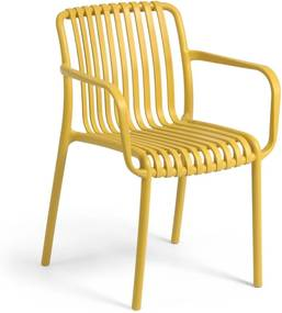 Horčicovožltá záhradná stolička La Forma Isabellini