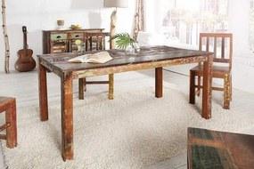 Drevený jedálenský stôl z recyklovaného dreva Jakarta 90 x 160 cm »