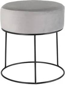 TORO Stolička TORO 38cm sivý zamat