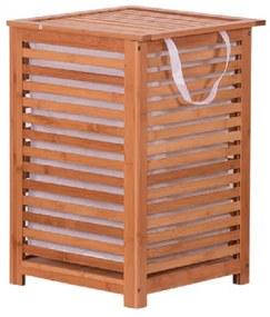 TEMPO KONDELA Basket kôš na prádlo prírodná / béžová