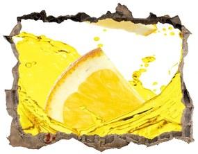 Fototapeta díra na zeď Plátky citróna nd-k-98570020