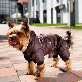 PETOP Zimný overal pre psov SAIMON hnedý L