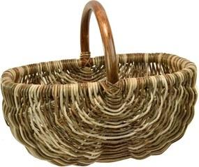 Vingo Ratanový košík na nákup v hnedých odtieňoch