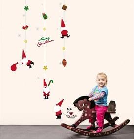 Vianočné samolepky Ambiance Fathers Christmas Toys