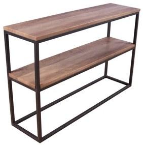 Rise konzolový stolík s policou teak