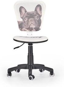 HALMAR Flyer detská stolička na kolieskach vzor bulldog
