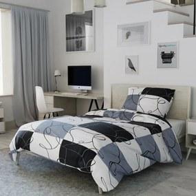 Písecké lůžkoviny Bavlnené obliečky Šach sivý Rozmer obliečok: 70x90 cm, 140x220 cm