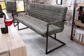 Lavica Imperial 160cm/ vintage šedá