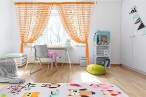 Podlasiak Detská záclona Baby Ball orange 150x160