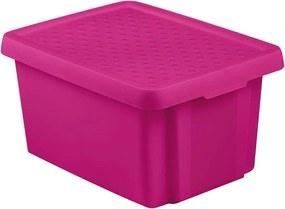 CURVER ESSENTIALS 16L úložný box 39 x 30 x 21 cm ružový 00753-437