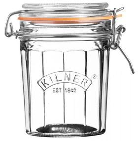 KILNER Guľatý zavarovací pohár s klipom 450 ml
