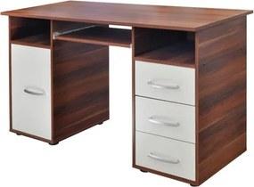 OVN Písací stôl IDN 60194 orech / biela lamino
