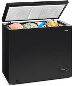 Klarstein Iceblokk 200, truhlicová mraznička, mraziaci box, A++, 200 litrov, 2 závesné koše, kolieska, čierna