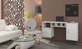 WIP Závesný PC stolík Hanger Farba: čierny lesk / čierna