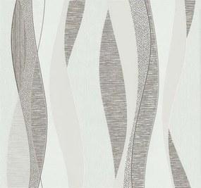 Vliesová tapeta, vlnovky hnedé, Einfach Shöner 1331120, P+S International, rozmer 10,05 m x 0,53 m