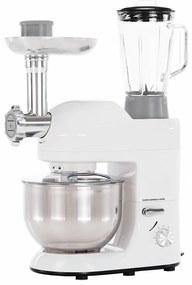 Kuchynský robot, 1800 W, 5 l, lesklá biela/chróm, KANTE