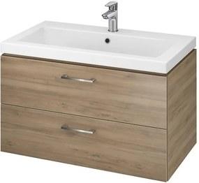 CERSANIT - SET skrinka + umývadlo, orech , LARA COMO 80, S801-154-DSM