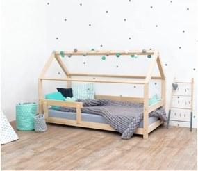 Prírodná detská posteľ s bočnicami zo smrekového dreva Benlemi Tery, 90 × 200 cm
