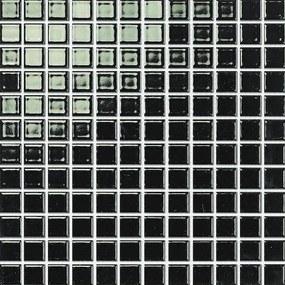 Keramická mozaika Premium Mosaic černá 30x30 cm lesk MOS23BK