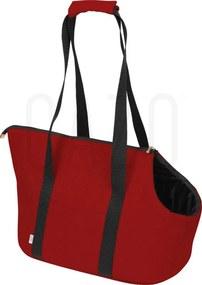 Prepravná kabelka pre psa červená 30×40×24 cm