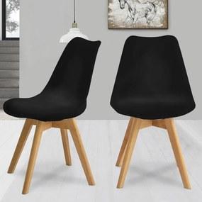 2ks Jedálenská stolička NORDICA - čierna