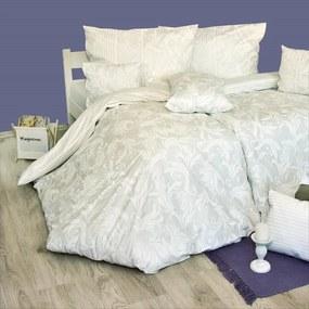 Obliečky bavlnené Anemaria biela TiaHome 1x Vankúš 90x70cm, 1x Paplón 140x200cm