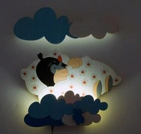 DoDo LED Lampička Krtko v perinke s d. ovl. NL 23LED DO 50x35 cm