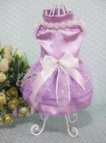 PETOP Fialové šaty Candy pre fenky M