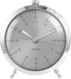 Budík Atom, 9 cm, nerezová ocel, stříbrná Stfh-KA5599SI Time for home+
