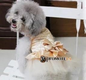 PETOP Krémové šaty Marilyn pre fenky XS