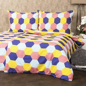 4Home Krepové obliečky Patchwork pastel, 160 x 200 cm, 70 x 80 cm