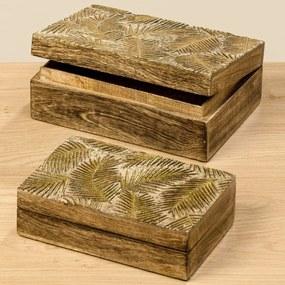 Škatuľky Farn z dreva mangovníka, 2 ks