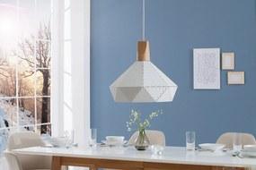 Bighome - Visiaca lampa SCANDINIA - biela, prírodná