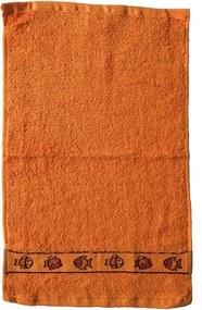 Dobrý Textil Detský uterák s motívom 30x50 - Oranžová | 30 x 50 cm