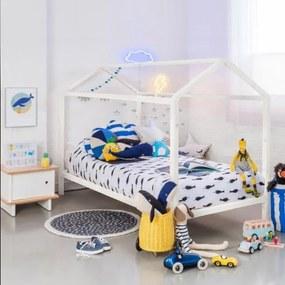 TEMPO KONDELA Impres 90 drevená jednolôžková posteľ s roštom biela