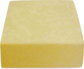 Froté do detskej postieľky 180 g/m2 žlté Velikost: 60 x 120 cm